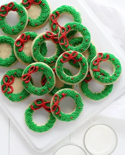 Sugar Cookie Christmas Wreath