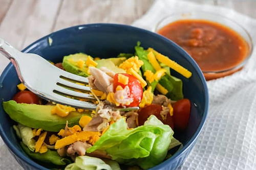 Shredded Chicken Taco Salad
