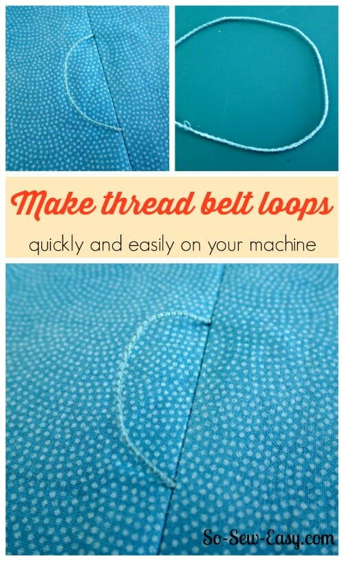 How To Make Thread Belt Loops