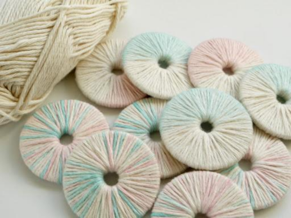DIY Yarn Wrapped Pattern Weights