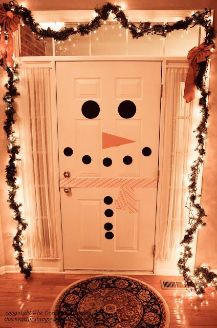 Friendly Snowman Door Decoration