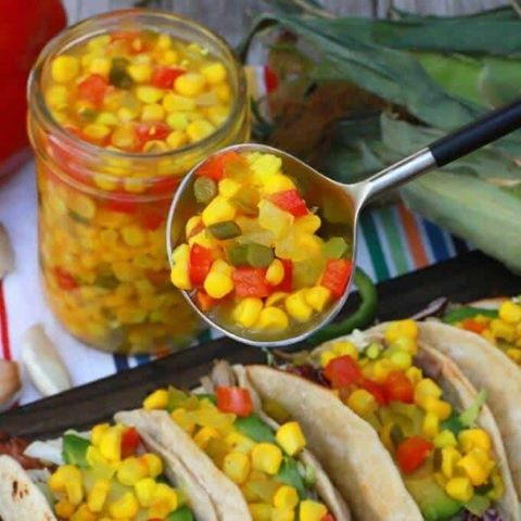 Sweet 'n' Spicy Canned Corn Relish