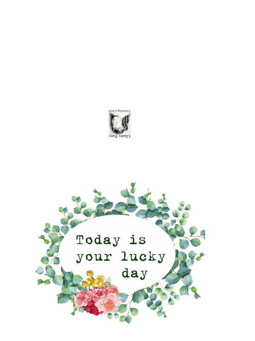 Free Printable Lucky Day Greeting Card