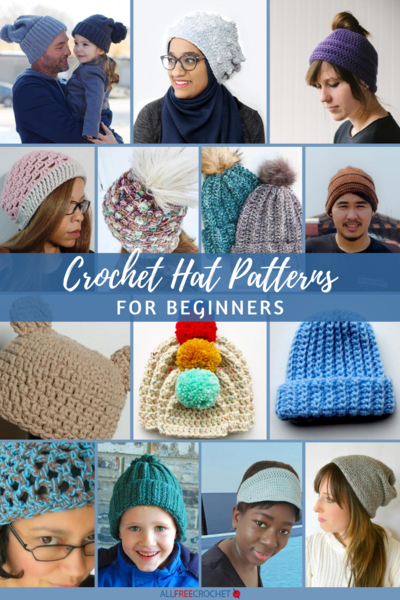 60 Free Crochet Hat Patterns for Beginners