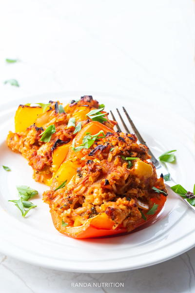 Healthy Chicken And Rice Stuffed Peppers