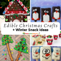 50+ Edible Christmas Crafts and Winter Snack Ideas