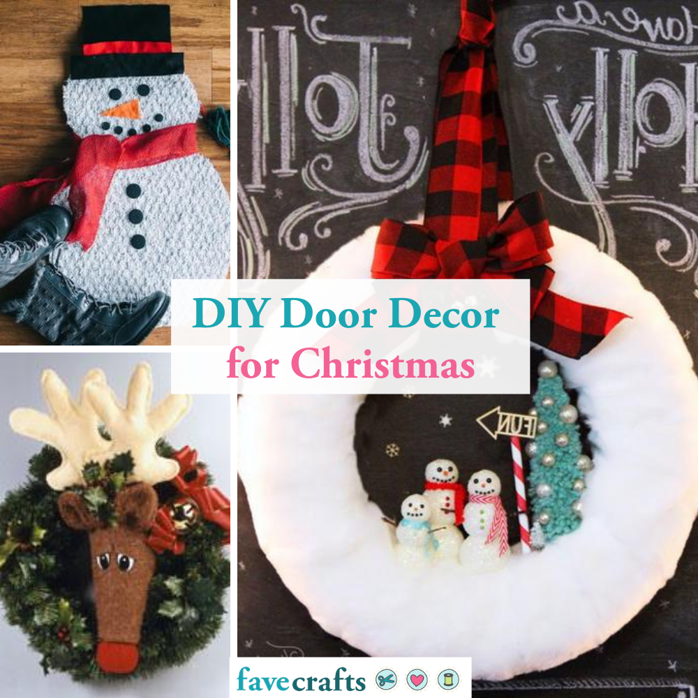 26 Diy Door Decorations For Christmas Favecrafts Com