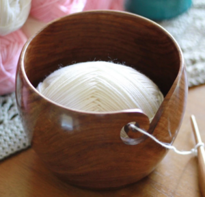 Furls Teak Yarn Bowl, Hooks and Yarn Giveaway