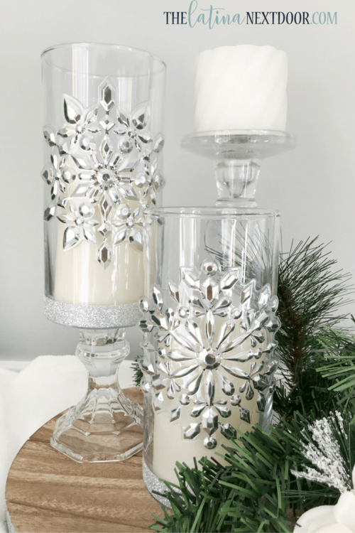 Dollar Store Christmas Candle Holders