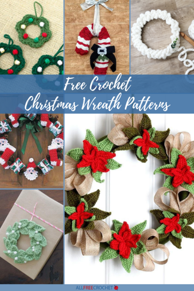25 Free Crochet Christmas Wreath Patterns
