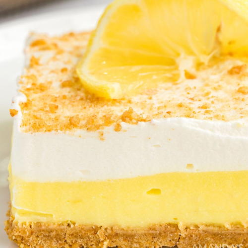 Lemon Cream Cheese Pudding Dessert