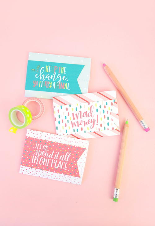 Gift Card Holder Free Printables