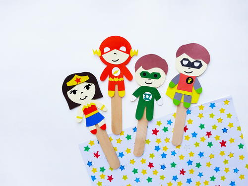 Dc Superhero Popsicle Stick Puppets