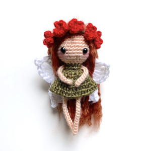 Woodland Leaf Fairy Amigurumi Doll