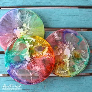 Rainbow Resin Coasters