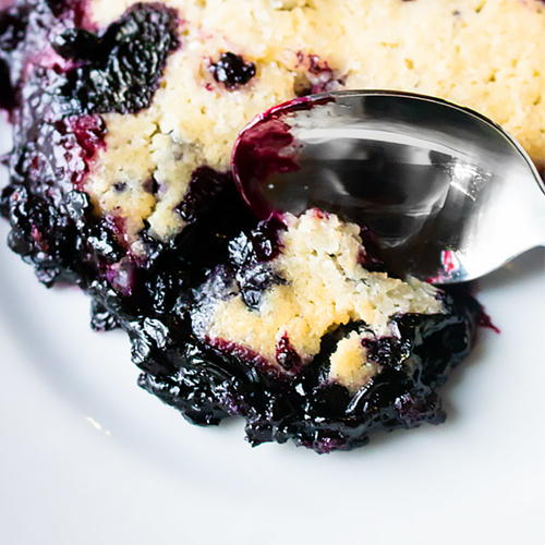 Hot Blueberry Cobbler