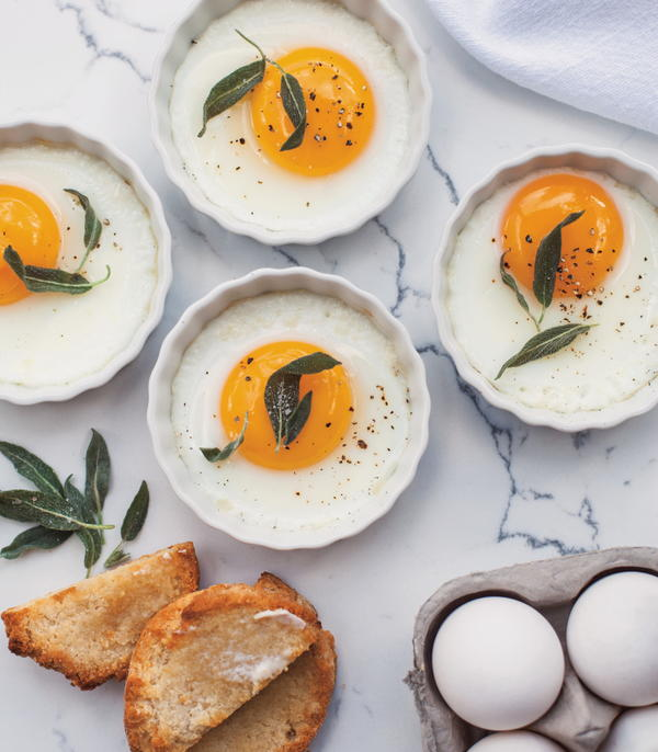 Baked Eggs with Butter and Sage