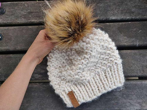 Snowflake Bulky Winter Hat