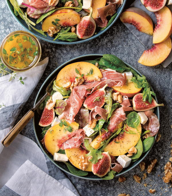 Prosciutto and Peach Salad with Figs