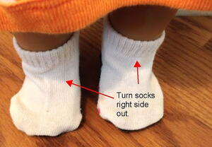 How to Make Doll Socks