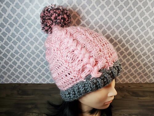 Zipper Braid Beanie