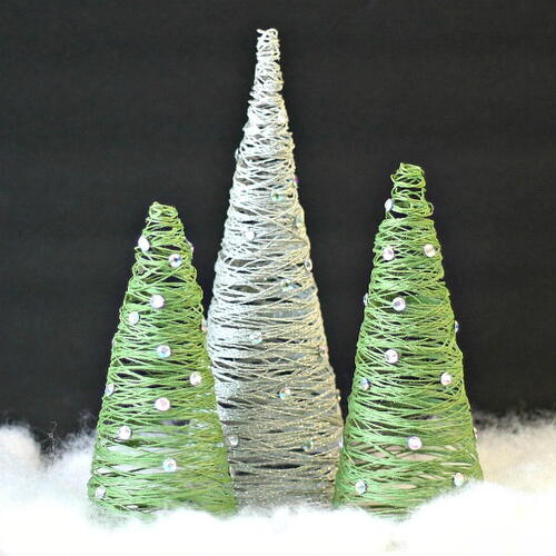 Tabletop String Christmas Trees