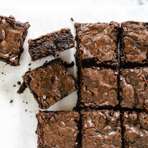 Crinkle Top Fudgy Brownies