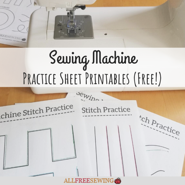 Sewing Machine Paper Practice Sheets