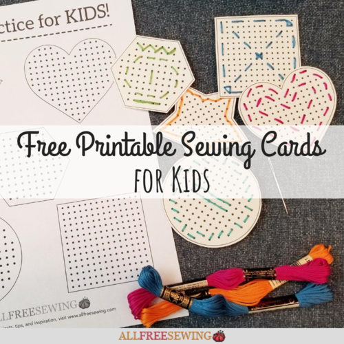 Printable Sewing Cards for Kids