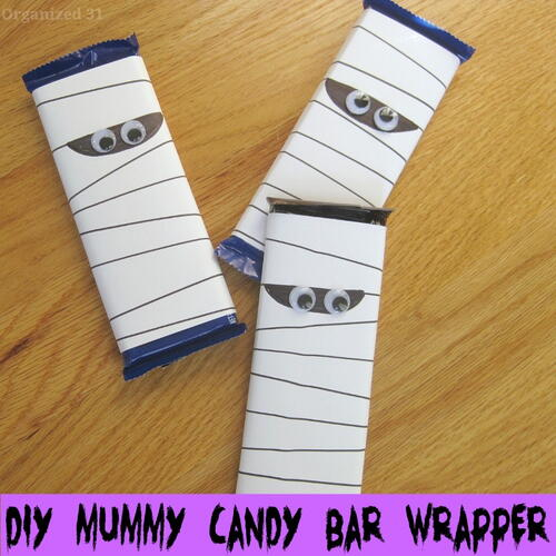 Diy Mummy Candy Bar Wrapper