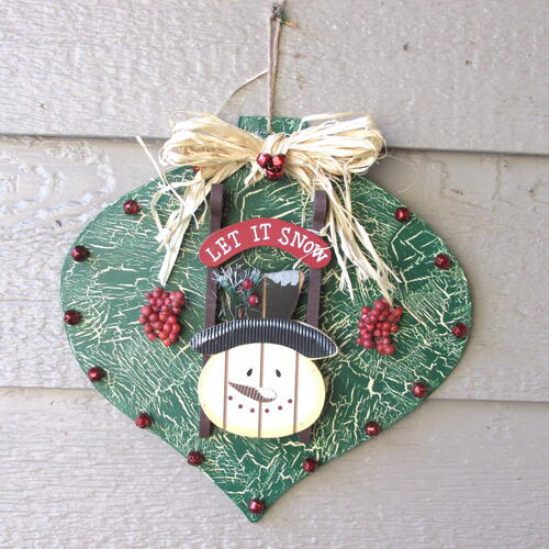 Rustic Snowman Dollar Store Ornament Makeover