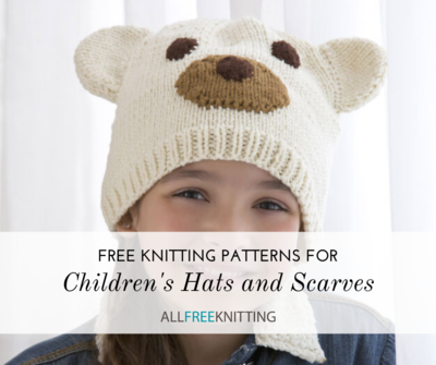 Free Knitting Patterns for Childrens Hats and Scarves