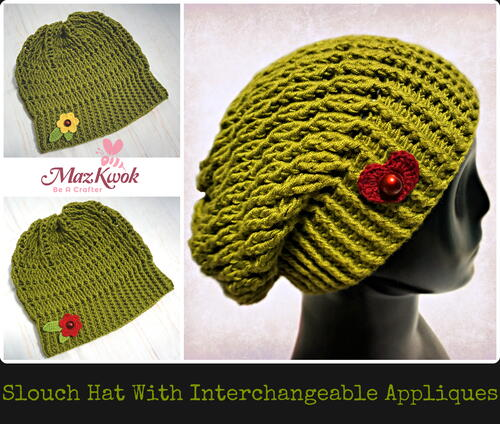 Slouch Hat With Interchangeable Appliques