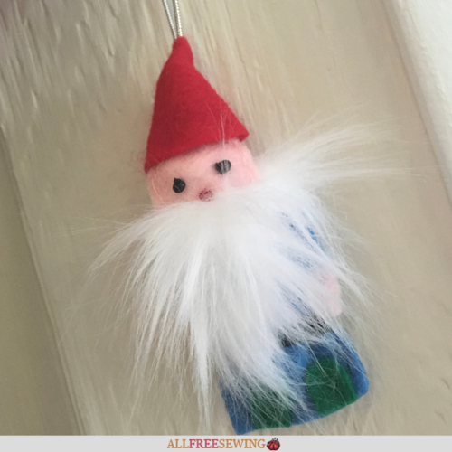 Christmas Gnome Ornament or Pincushion