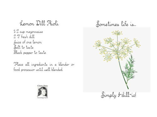 Free Printable Dill Recipe Greeting Card