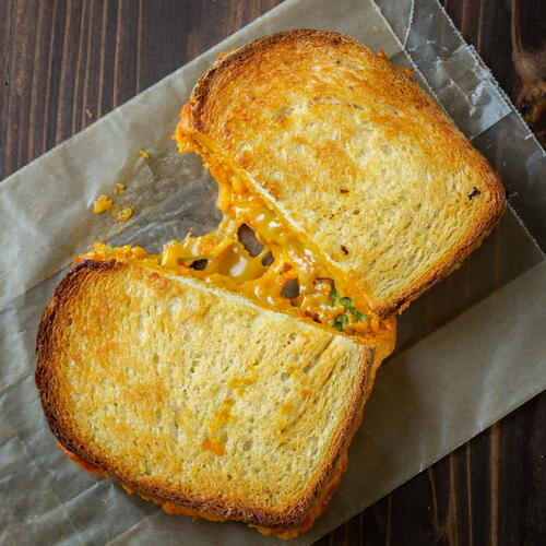 Cheddar Pumpkin Grilled Cheese