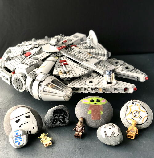 Cool Star Wars Painted Rock Crafts Kids Will Love