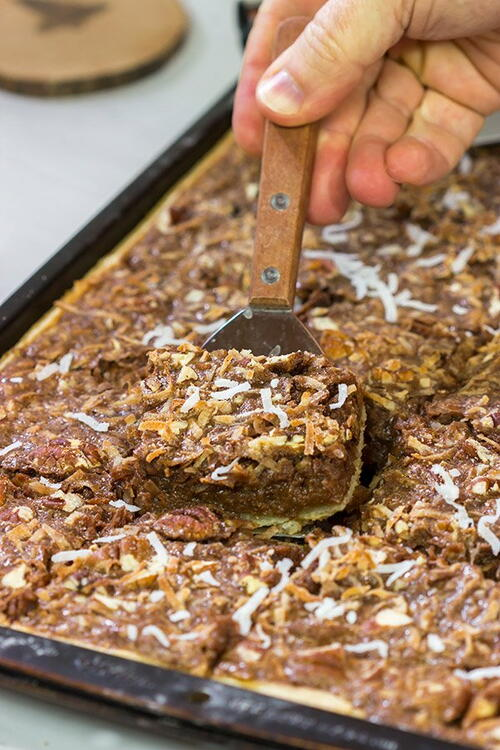 German Chocolate Slab Pie
