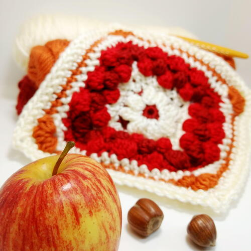Cranberry Pie Granny Square