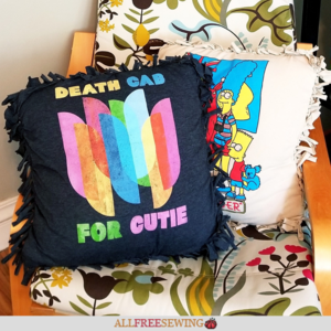 No Sew Tie Pillow Using a Shirt