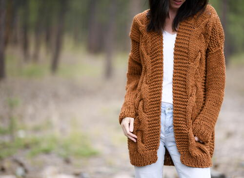 Coziest Cable Cardigan