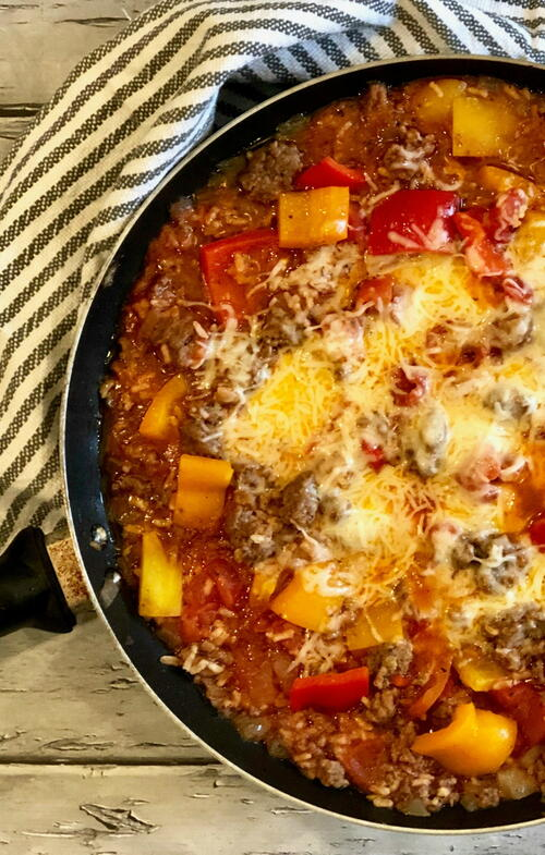 Unstuffed Peppers With Rice Skillet Dinner