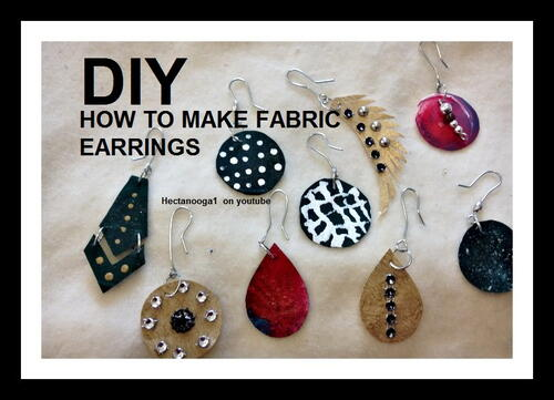 Fabric Scraps Earrings