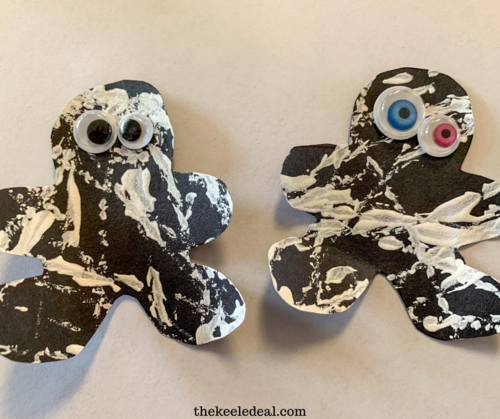 Marble Painted Mummy Craft