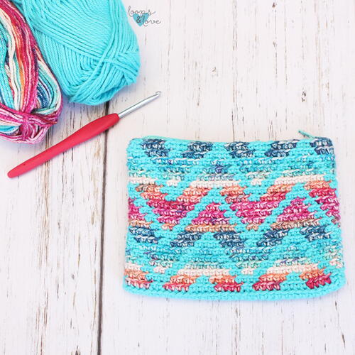 Chevron Stripes Pouch