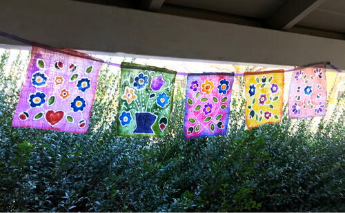 Make Batik Style Prayer Flags Using Glue