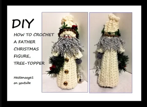 Crochet Father Christmas Figure