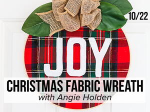 FaveCrafts Studio Live: Christmas Fabric Wreath