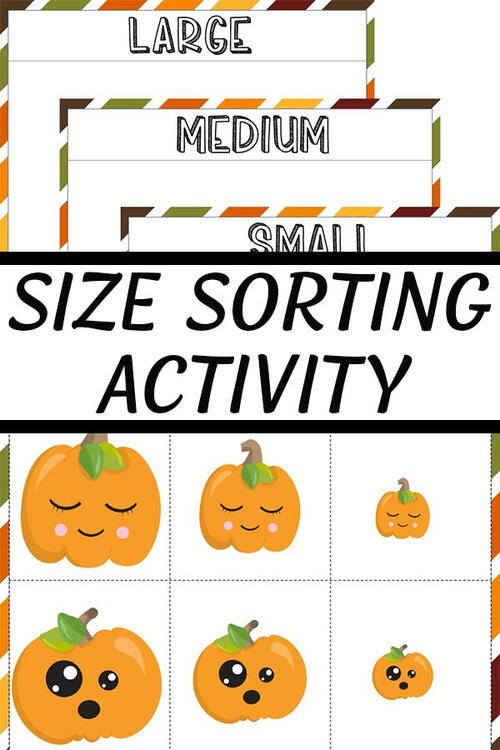 Pumpkin Size Sorting Printable Activity