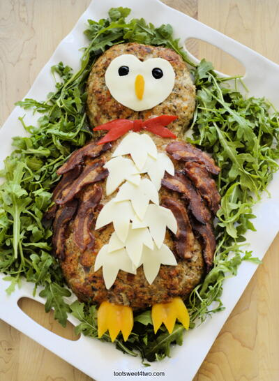 Party Food Ideas:  How To Make An Impressive Owl Meatloaf